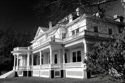 Blue Ridge Parkway Flat Top Manor BW by Carol R Montoya Fine Art Photography