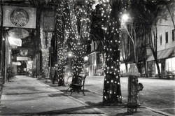 Tripping The Light In Downtown Brevard North Carolina In Charcoal by Carol R Montoya Fine Art Photog