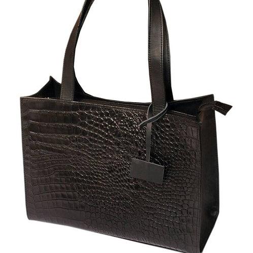 Roda Statement Leather Boxy Shopper Handbag Nigeria