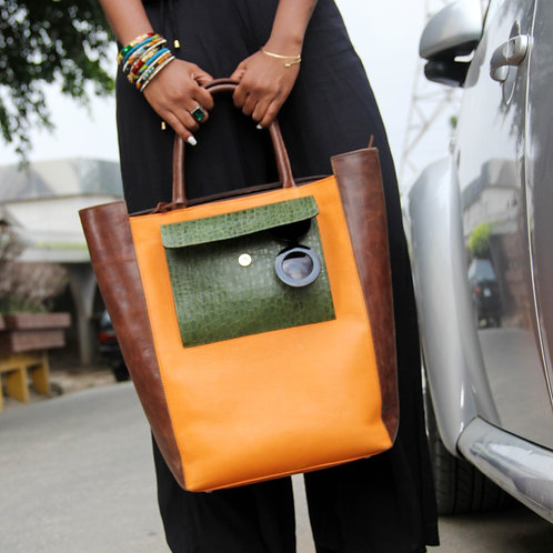 Roda Statement Leather Tote  Nigeria