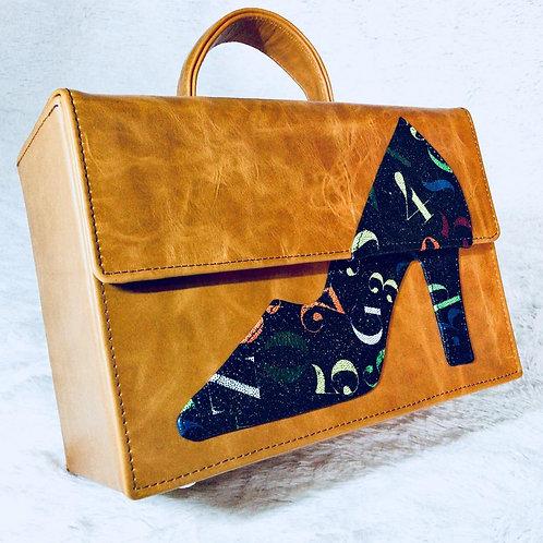 Roda Statement Leather Shoe Box Handbag Nigeria