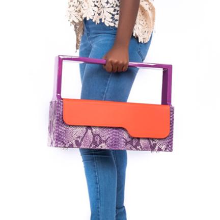 Roda Statement Leather Cool Wood Handbag Nigeria