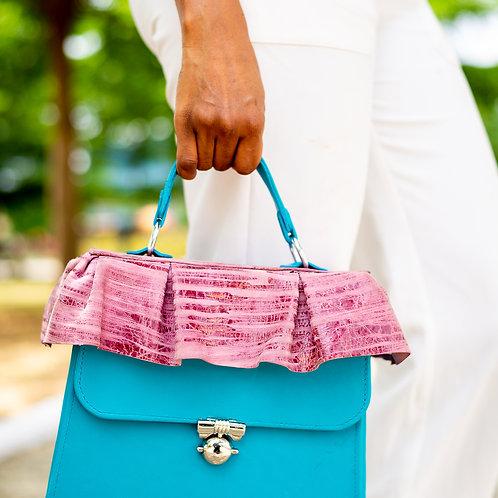 Roda Statement Leather Brolly Handbag Nigeria