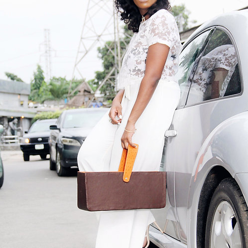 Roda Statement Leather Abisola Handbag Nigeria