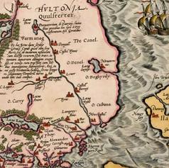 Map - 1574 Hiberniae Britannicae Insulae