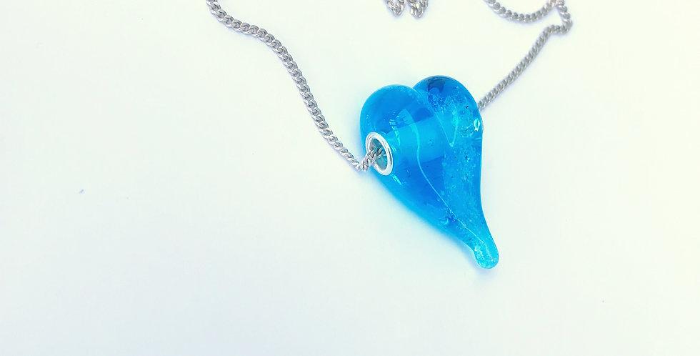 Aqua Heart Bead