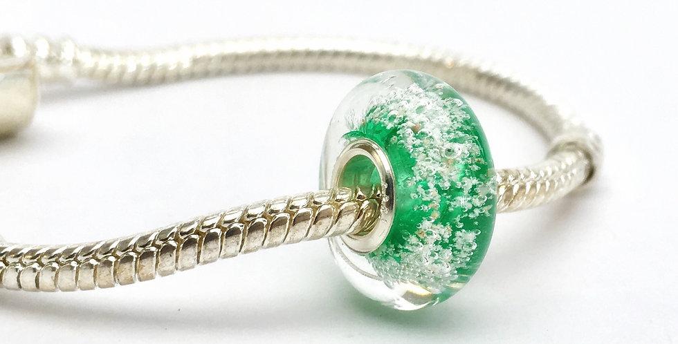 Grass Green Classic Pandora Style Bead