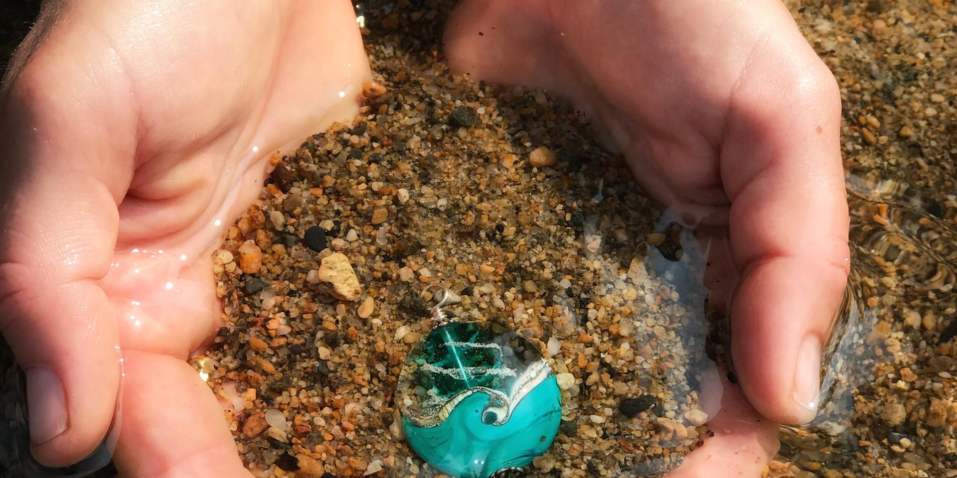 Turquoise Wave Cremation Keepsake