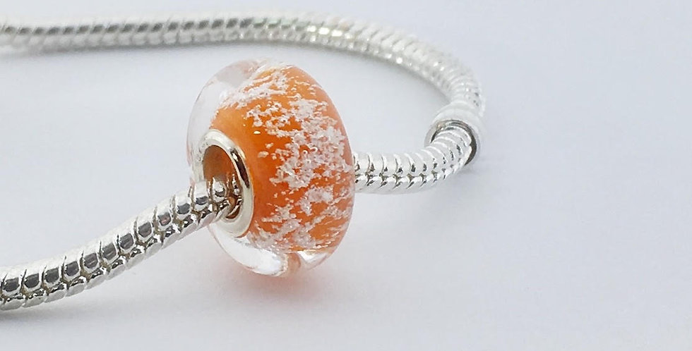 Saffron Classic Pandora Style Bead