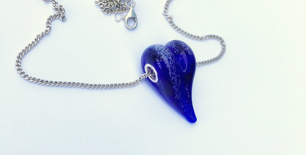 Cobalt Heart Bead