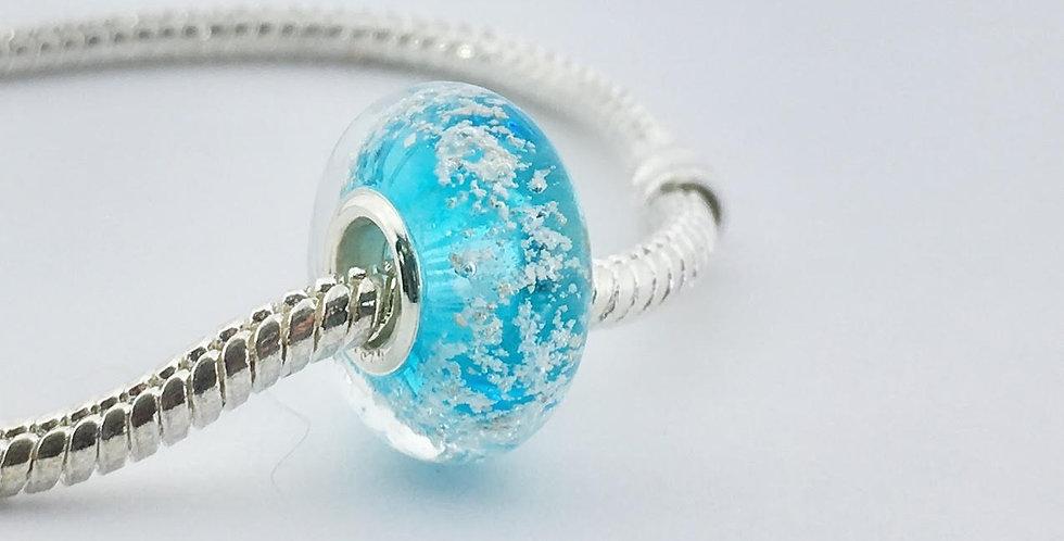 Aqua Classic Pandora Style Bead