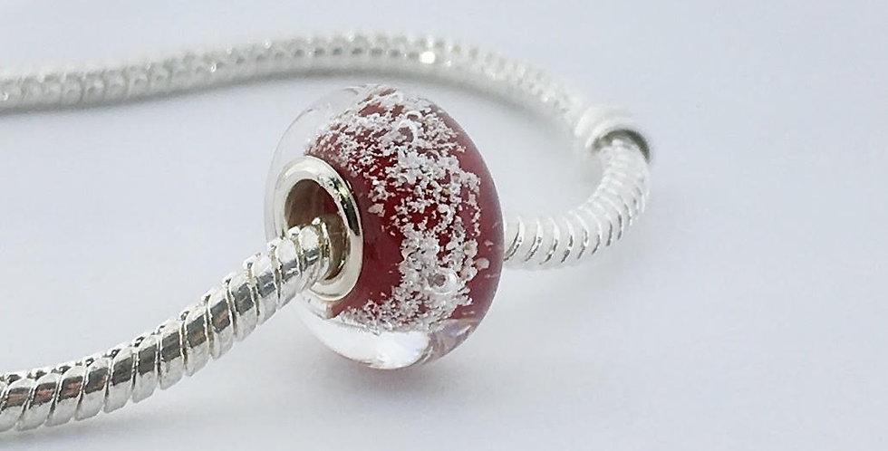 Deep Red Classic Pandora Style Bead