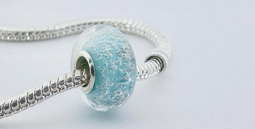 Light Teal Classic Pandora Style Bead
