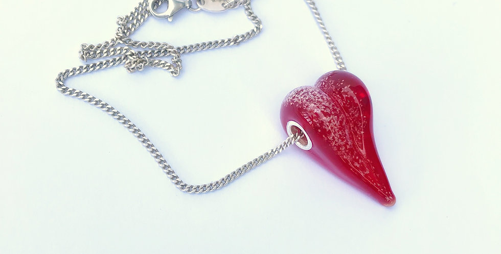 Ruby Heart Bead