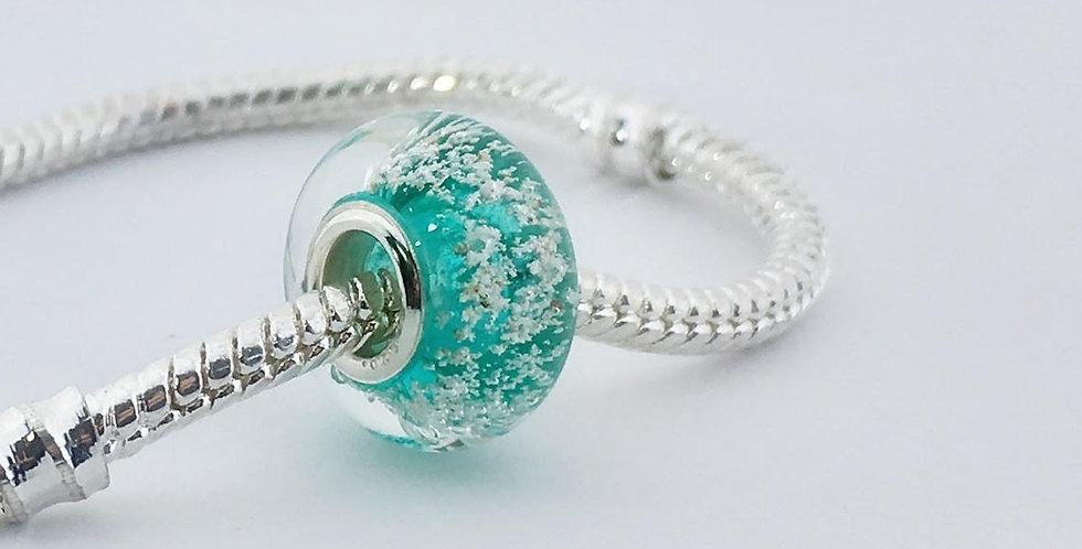 Sea Green Classic Pandora Style Bead