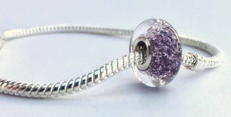 Plum Classic Pandora Style Bead