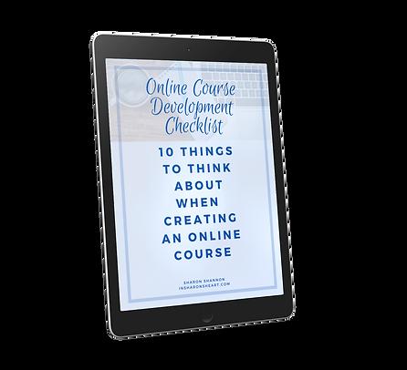 COVER_ Online Course Development Checkli