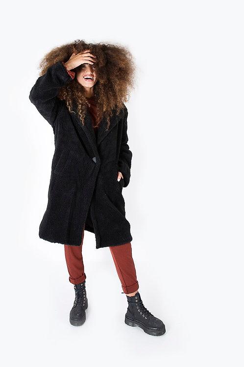 מעיל דובי שחור