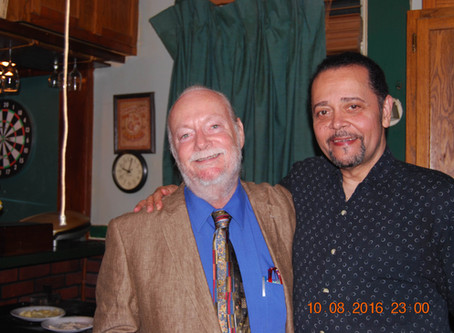 Me and my dear friend, Reggie, at his home in Memphis, Tennessee.  God bless you, my friend.