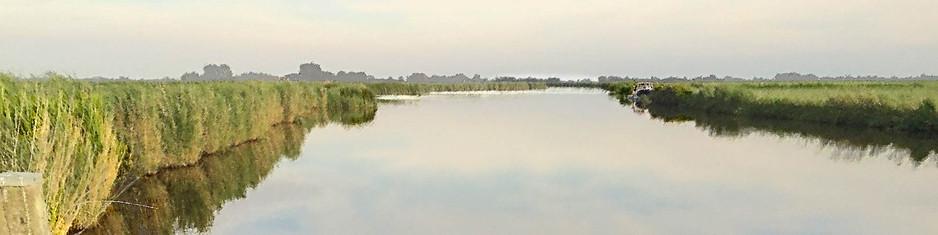 Panorama met bootje