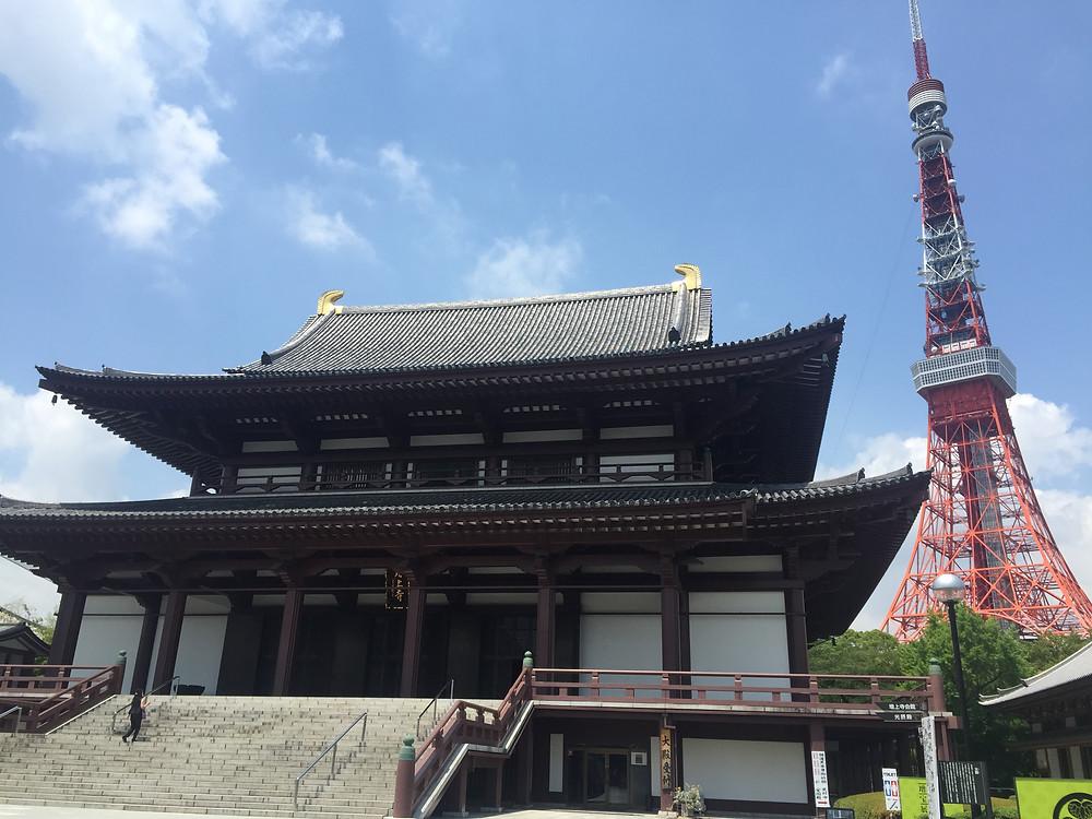 Tokyo Tower and Zojo-ji Temple