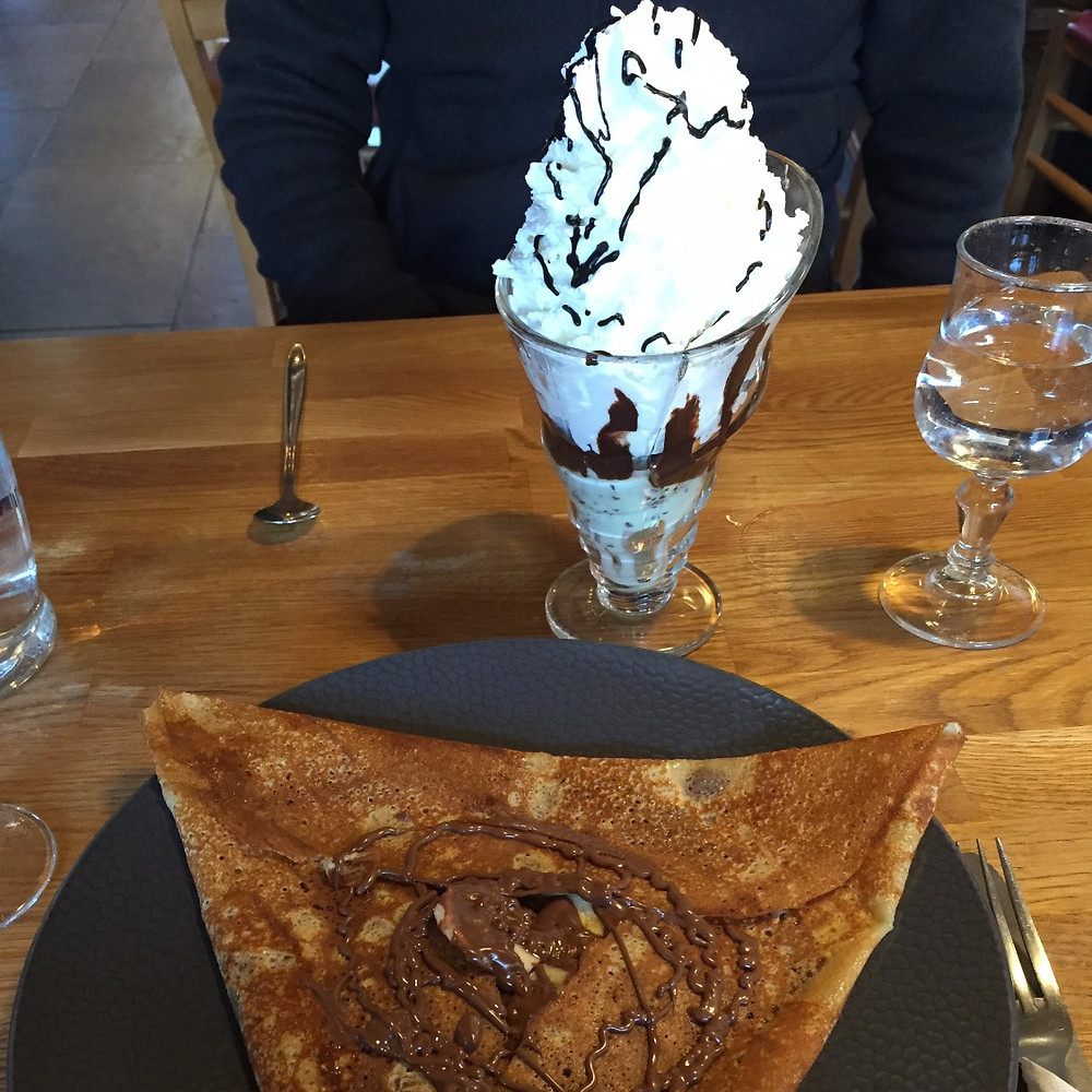 crepes and ice cream