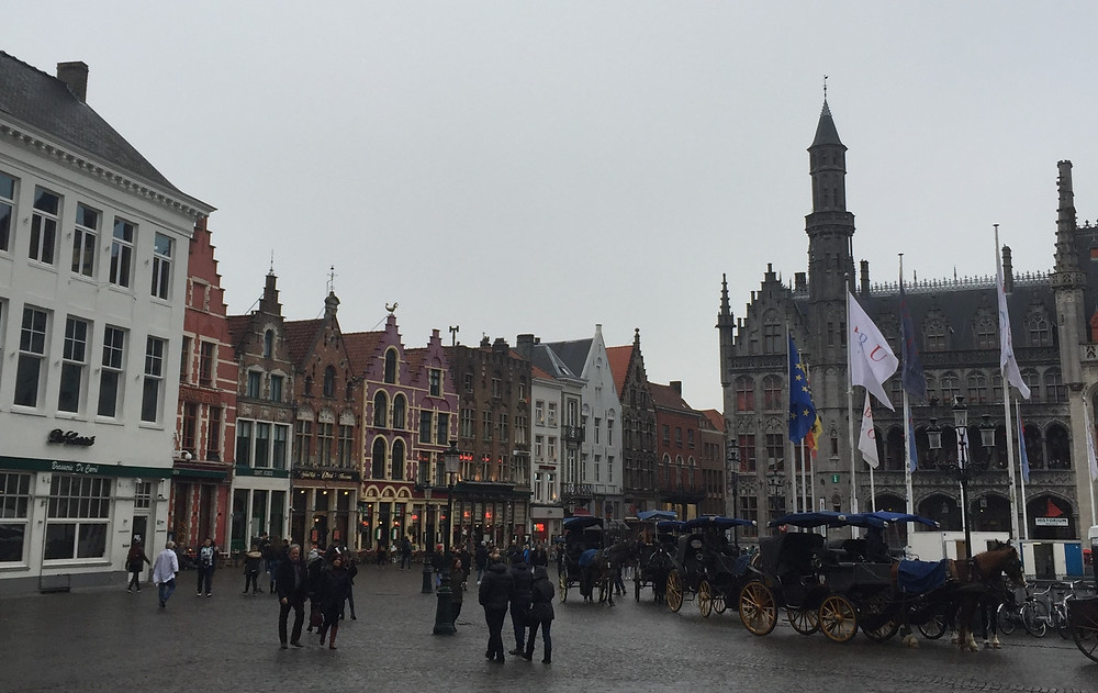 Main square in Bruges