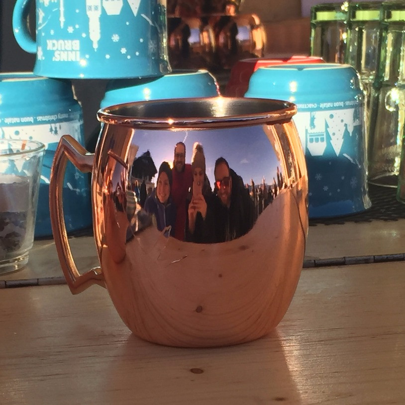 gluhwein at the top