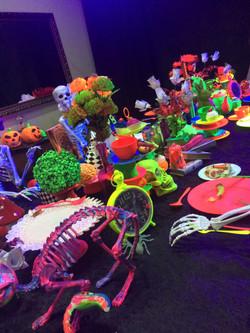 Glow Skeleton Theme Table Setting