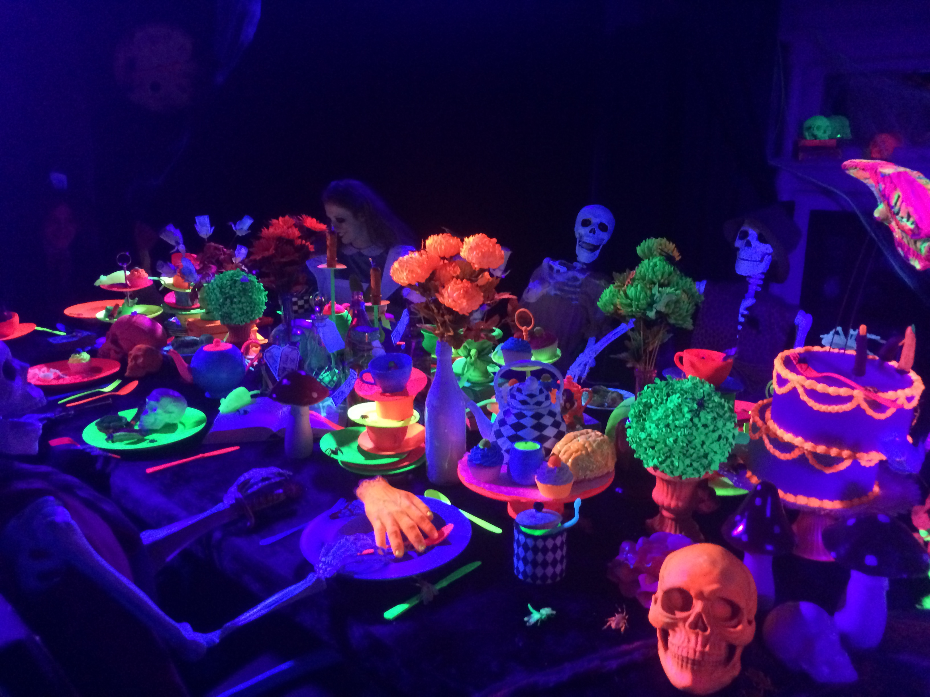 Glow Skeleton Theme Table Setting