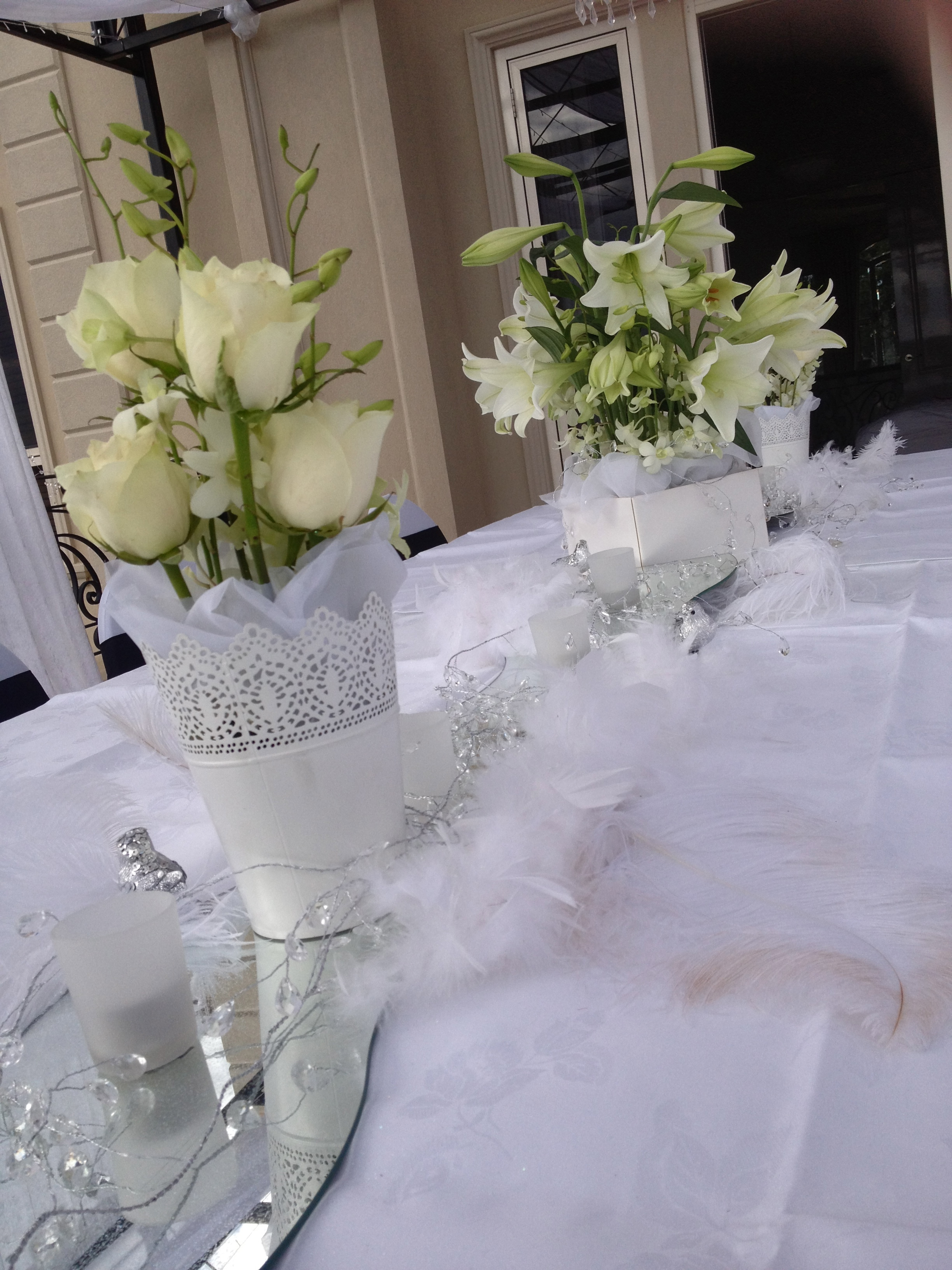 flower centerpiece for wedding