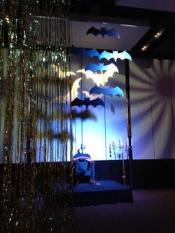bat sillouette halloween Event room