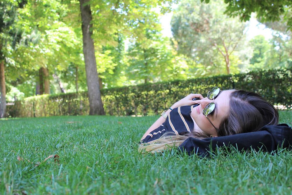Siesta en el Parque del Retiro