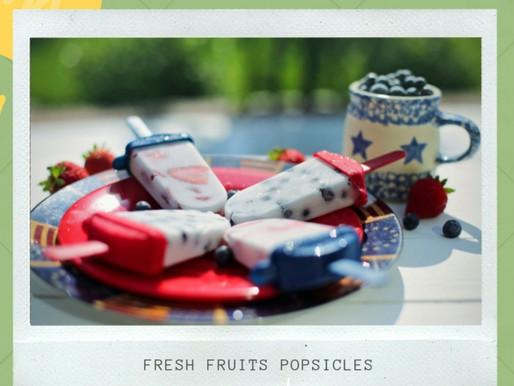 Fresh Fruits Popsicles