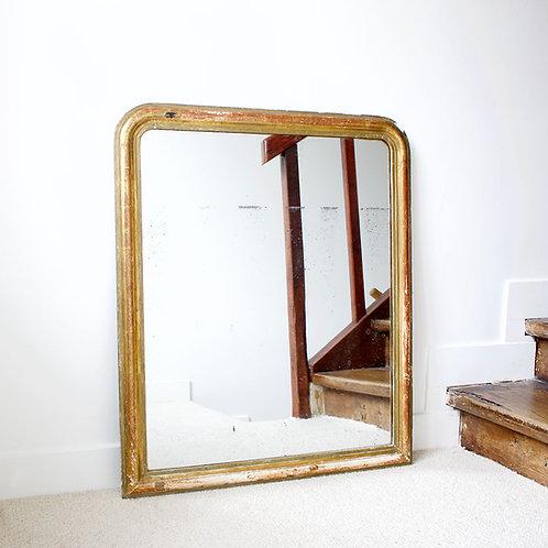 Miroir doré à la feuille d'or