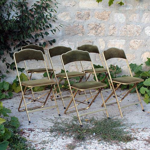 Série de 6 chaises pliantes