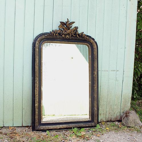 Grand miroir à fronton époque Napoléon III