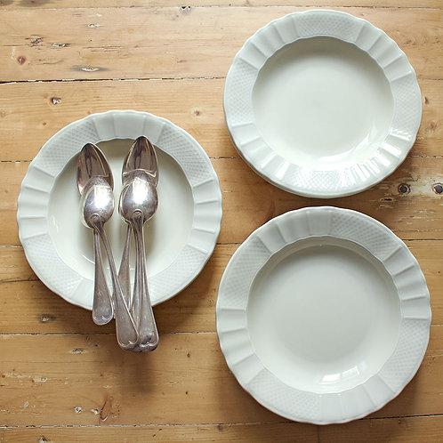 Set de 6 assiettes creuses porcelaine de Limoges