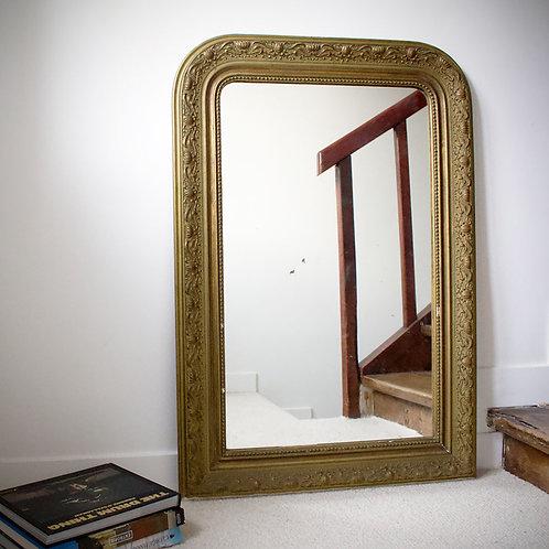 Grand miroir doré XIXème siècle