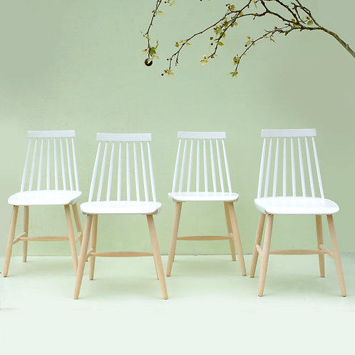 4 chaises style scandinave années 60