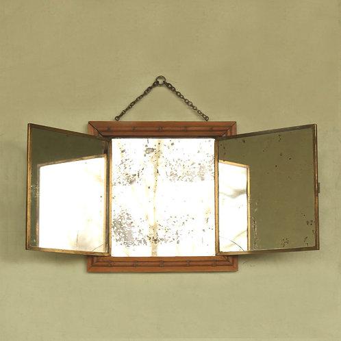 Miroir triptyque fin XIXème