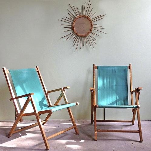 2 fauteuils Plideal années 50
