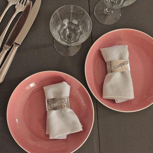 Ronds de serviette metal argenté circa 1930