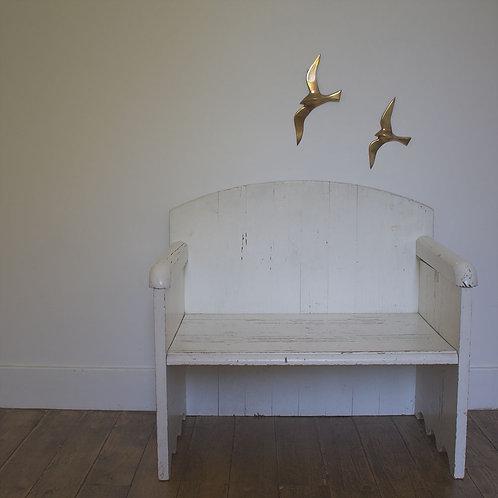 Duo d'oiseaux en laiton