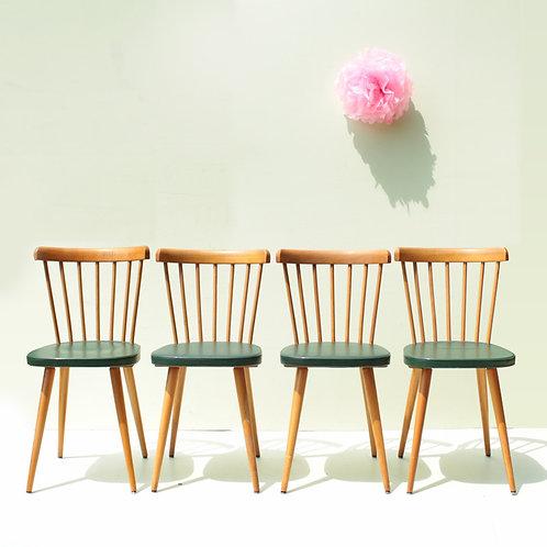 Suite de 4 chaises années 50