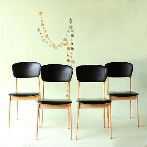 4 chaises vintage style Guariche