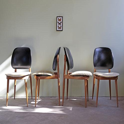 4 chaises Pierre Guariche