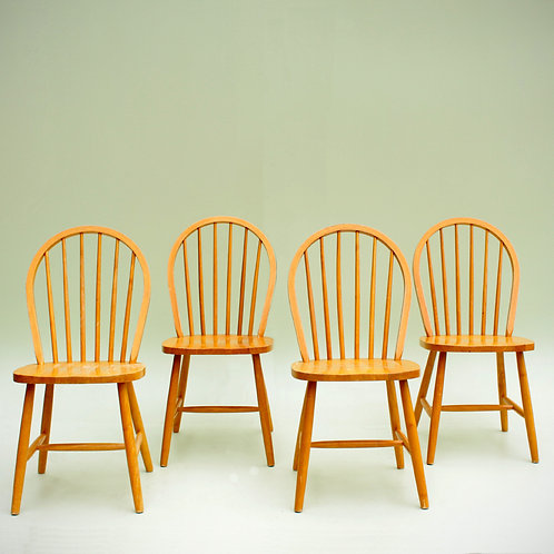 4 chaises Windsor style Ercol