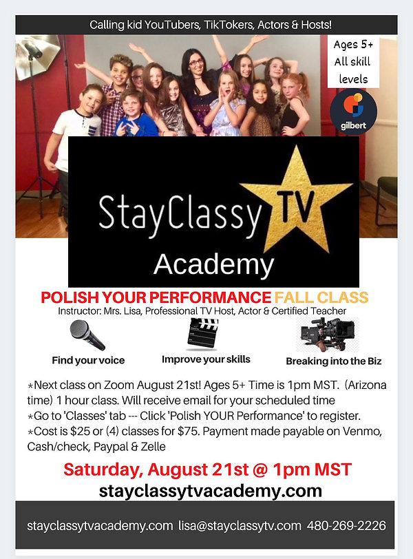 StayClassyTV Academy Polish Your Perform