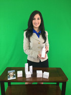 Spokeswoman with products onset.jpg